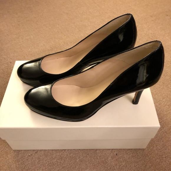 Lk Bennett Sybila Patent Black Heels